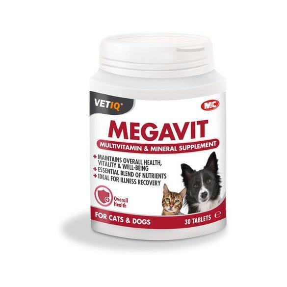 Megavit multivitamin és ásványianyag tabletta kutyáknak és macskáknak (30 db-os)