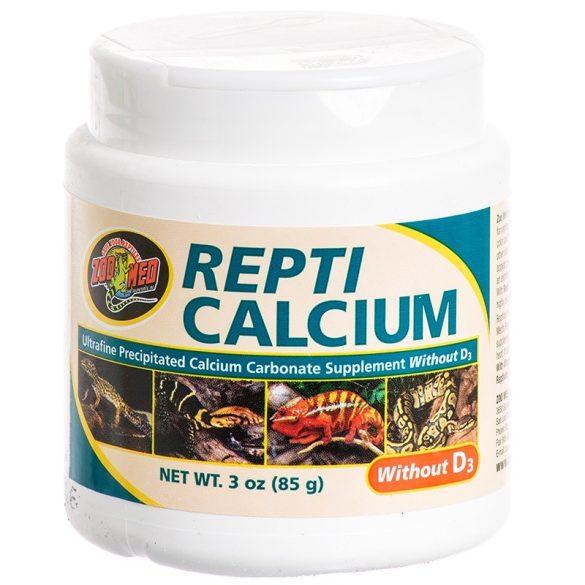 Repti Calcium D3 vitamin nélkül, 85 g
