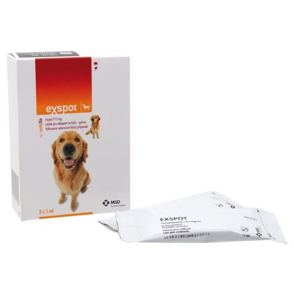 Exspot Spot On csepp kutyáknak 1db ampulla