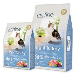 Profine Light Turkey teljes értékű táp felnőtt macskák számára - 10kg