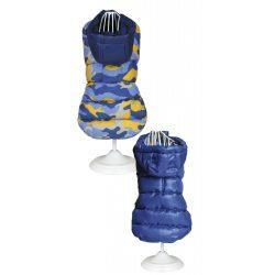 Croci Spa olasz kifordítható pufi kabát - military blue
