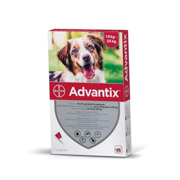 Advantix Spot On csepp 10-25 kg-os kutyáknak 1db ampulla