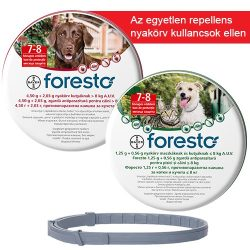 Foresto nyakörv kutyáknak kullancs- és bolha ellen 70 cm, 8 kg felett