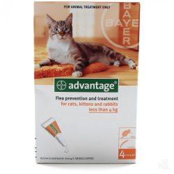Advantage 40 Spot On csepp 4 kg alatti macskáknak és nyusziknak 1db