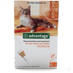 Advantage 40 Spot On csepp 4 kg alatti macskáknak és nyusziknak 1 ampulla