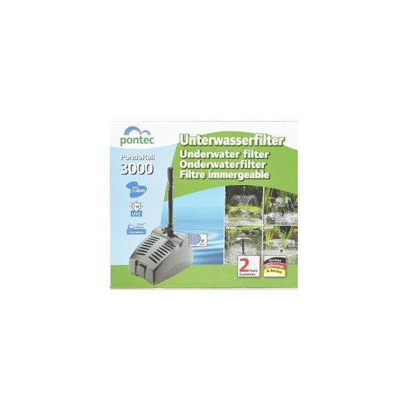 Pontec PondoRell 3000 víz alatti szűrő és szökőkút szivattyú UVC-vel