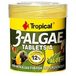 Tropical 3- Algae Tablets A 36g/50ml tablettás haltáp