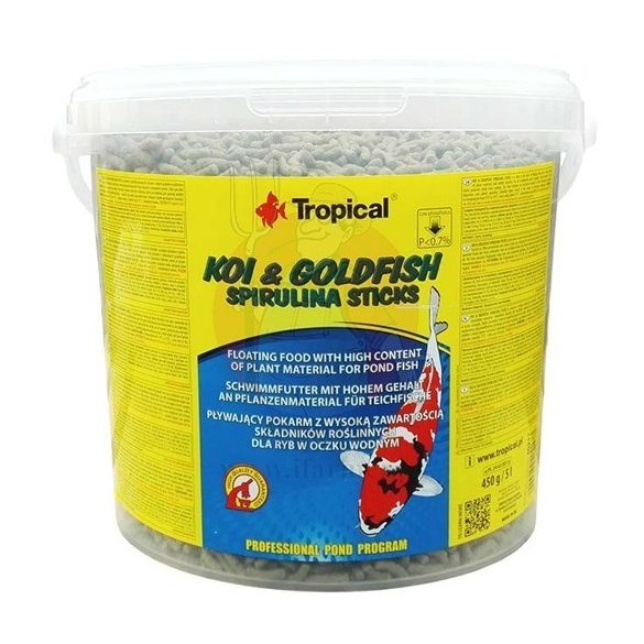 Tropical Koi - Goldfish spirulina sticks 11l