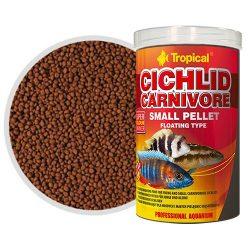 Tropical Cichlid Carnivore kisméretű lebegő pellet húsevő sügereknek 250 ml
