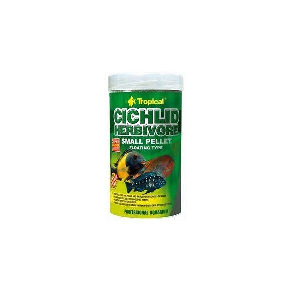 Tropical Cichlid Herbivore kisméretű lebegő pellet növényevő sügereknek 250 ml