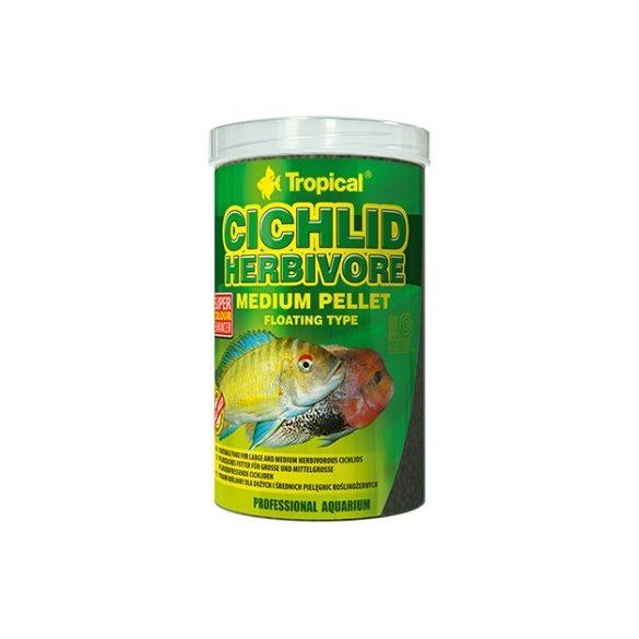 Tropical Cichlid Herbivore közepes méretű lebegő pellet növényevő sügereknek 500 ml