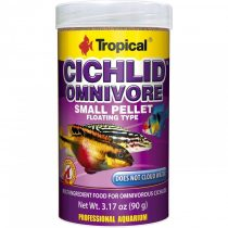 Tropical Cichlid Omnivore kisméretű lebegő pellet mindenevő sügereknek 250 ml