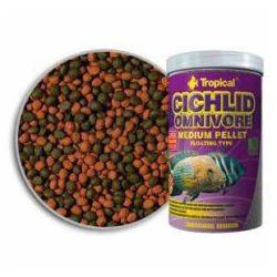 Tropical Cichlid Omnivore közepes méretű lebegő pellet mindenevő sügereknek 500 ml