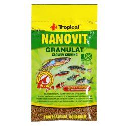 Tropical Nanovit Granulat slowly sinking 10g eledel halaknak