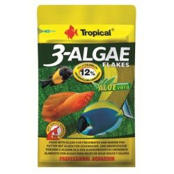 Tropical 3- Algae Flakes 12g lemezes haltáp