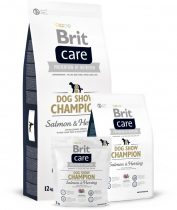 Brit Care Dog Show Champion Hipoallergén táp felnőtt kutyák számára- lazacos, heringes 12 kg
