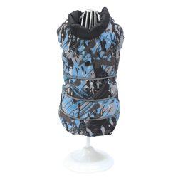 Croci Spa olasz kabát fekete-kék festett mintás - Jackson