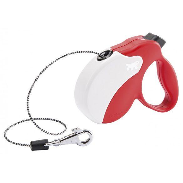 Ferplast Amigo Mini Cord automata póráz 3 méter, max. 12 kg, piros-fehér