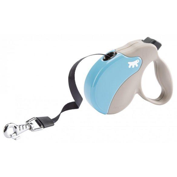 Ferplast Amigo Mini Tape automata póráz 3 méter, max. 12 kg, kék-szürke