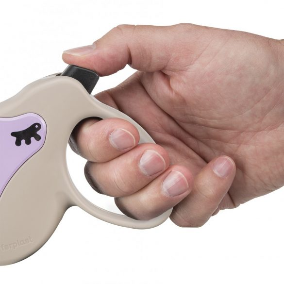 Ferplast Amigo Mini Tape automata póráz 3 méter, max. 12 kg, lila-szürke