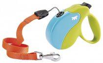 Ferplast Amigo Small Cord Color automata póráz 5 méter, max. 15 kg, narancs-zöld-kék