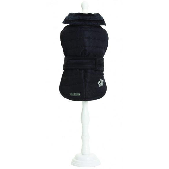 Croci Spa bélelt kabát bulldog tipusú kutyáknak - fekete