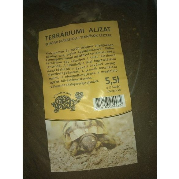 Terráriumi aljzat 5.5 kg európai szárazföldi teknősök részére