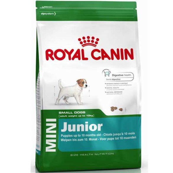 Royal Canin Mini Junior teljes értékű száraz eledel kölyök kutyák számára 8 kg