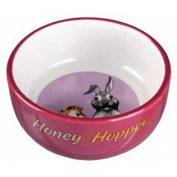 Trixie Honey Hopp etetőtál nyuszinak, tengerimalacnak piros