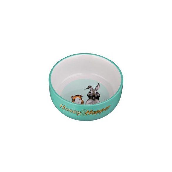 Trixie Honey Hopp kerámia tál nyusziknak, tengerimalacoknak zöld