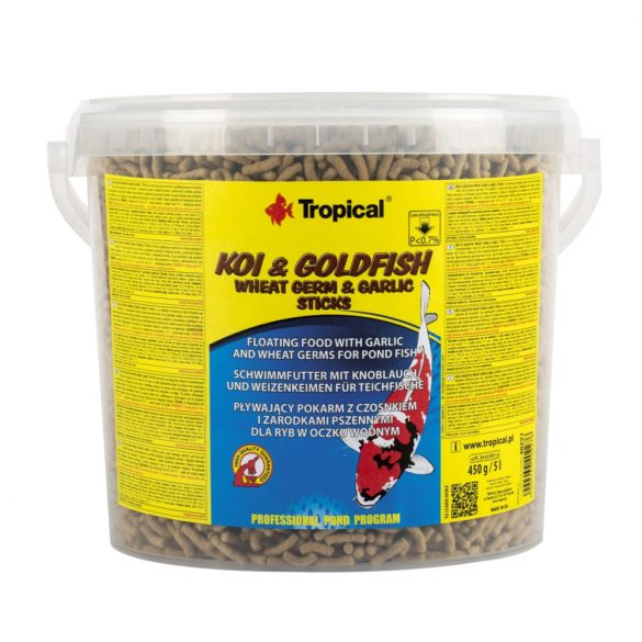 Tropical Koi&Goldfish Wheat Germ&Garl 5L